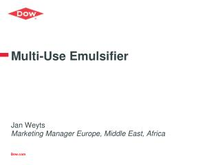 Multi-Use Emulsifier