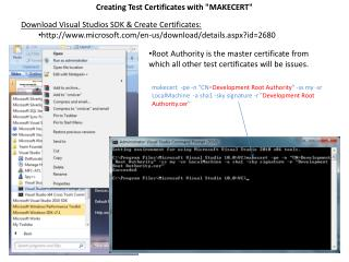 "Creating Test Certificates with ""MAKECERT"""