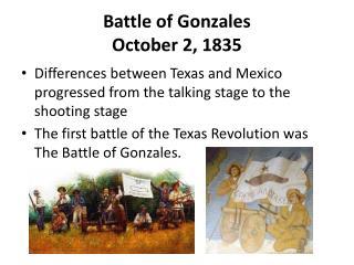 Battle of Gonzales October 2, 1835