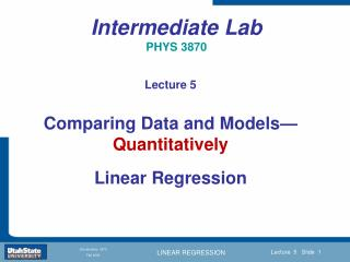 Intermediate Lab  PHYS 3870