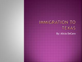Immigration to Texas