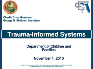 Trauma-Informed  Systems