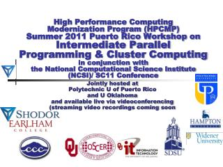 Intermediate Parallel Programming & Cluster Computing  Scientific Libraries