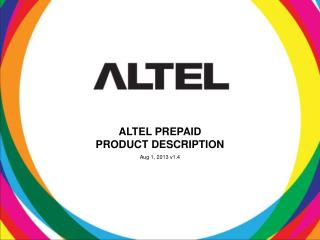 ALTEL PREPAID PRODUCT DESCRIPTION