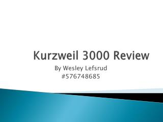 Kurzweil  3000 Review