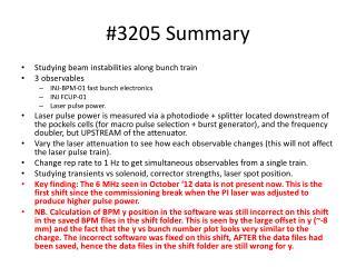 #3205 Summary