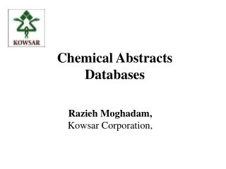 Chemical Abstracts Databases