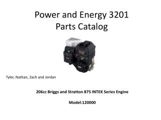 Power and Energy 3201 Parts Catalog