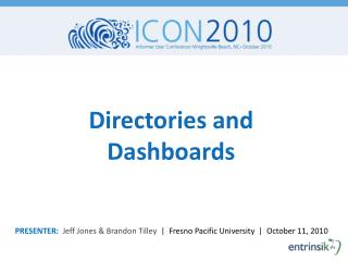 Directories and Dashboards