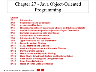 Java OOP Overview