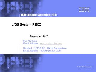 z/OS System REXX