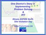 One District s Story in  Implementing  Problem Solving  RTI  Illinois ASPIRE North  Site Visitation Day