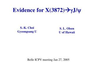 Evidence for X(3872)  g J/ y