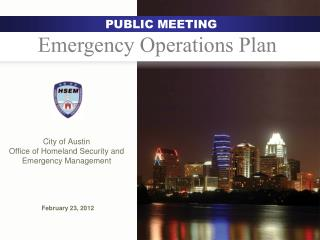 City of Austin  Office of Homeland Security and Emergency Management