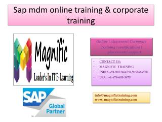 sap mdm online training in india,usa,pune,mumbai
