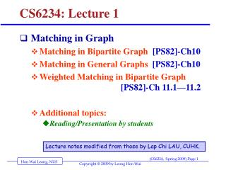 CS6234: Lecture 1