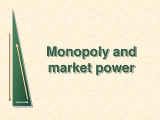 Monopoly and market power
