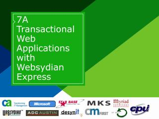 7A Transactional Web Applications with Websydian Express