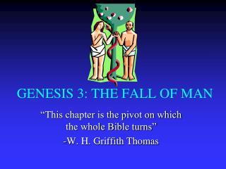 GENESIS 3: THE FALL OF MAN