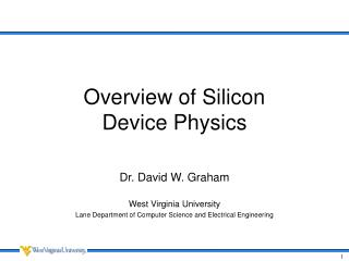 Overview of Silicon  Device Physics