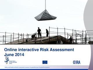 Online interactive Risk Assessment June 2014