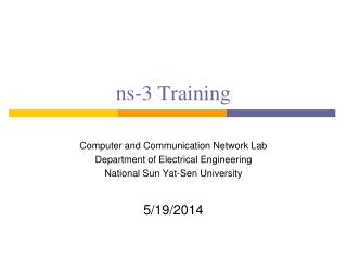 ns-3 Training