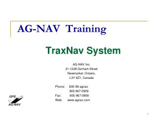 AG-NAV  Training