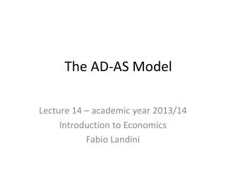 The AD-AS Model
