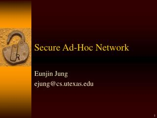 Secure Ad-Hoc Network