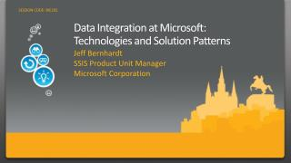 Data Integration at Microsoft: Technologies and Solution Patterns