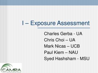 I – Exposure Assessment
