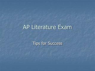 AP Literature Exam