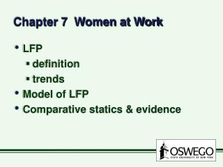 Chapter 7  Women at Work