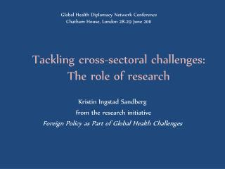 Tackling cross-sectoral challenges : The  role of research