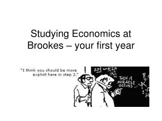 Studying Economics at Brookes – your first year