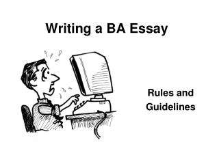 Writing a BA Essay
