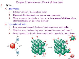 Chapter 4 Solutions and Chemical Reactions