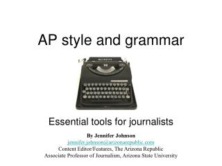 AP style and grammar