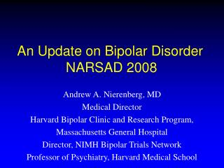 a research on bipolar disorder