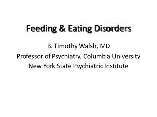 Feeding & Eating Disorders