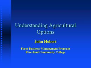 Understanding Agricultural Options