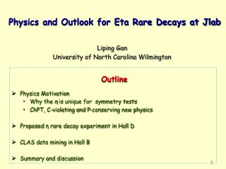 Physics and Outlook for Eta Rare Decays at Jlab