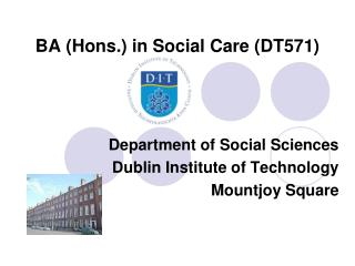 BA (Hons.) in Social Care (DT571)
