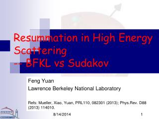 Resummation in High Energy Scattering -- BFKL vs Sudakov