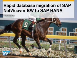 Rapid database migration of SAP NetWeaver BW to SAP HANA
