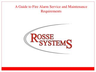 A Guide to Fire Alarm Service and Maintenance Requirements