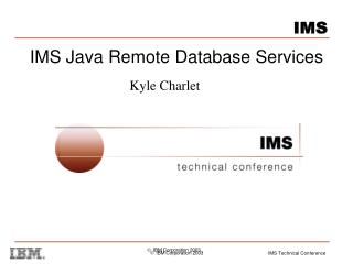 IMS Java Remote Database Services