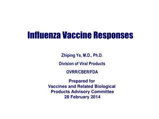 Influenza Vaccine Responses