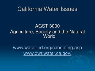 California Water Issues
