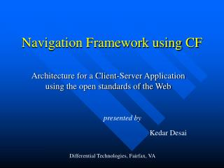 Navigation Framework using CF